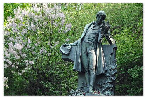 Памятник в Праге на Петршине Карлу Гинку Махе.