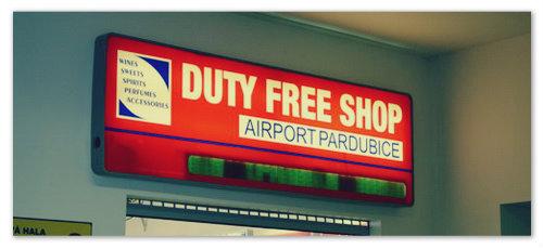 Дьюти фри в аэропорту Пардубице