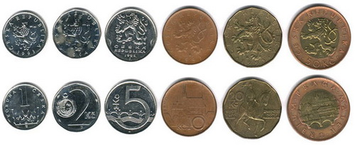 Чешские монеты.