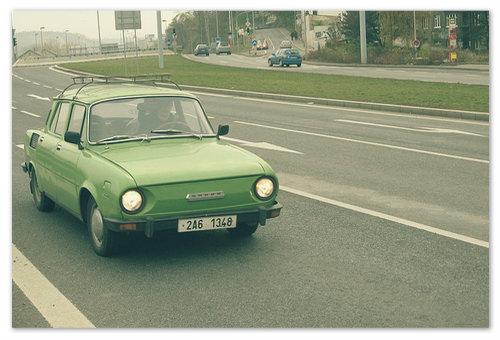 Skoda 100 — на такой машине ехал наш герой, когда повстречался с Йожином.