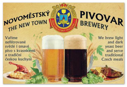 Рекламный постер Новоместского пивовара.