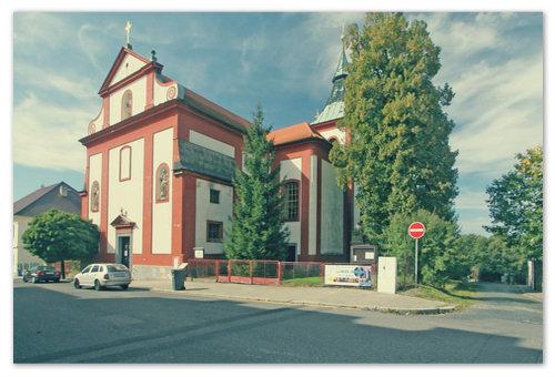 Это и есть Kostel svatého Bartoloměje в городе Doksy.