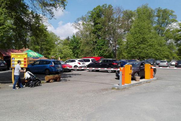 Организованный паркинг.
