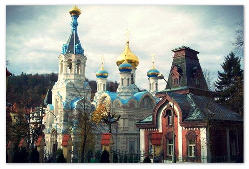 Действующая православная церковь в Карловых Варах.