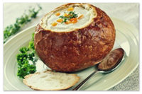 Суп в хлебе по-чешски