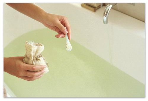 При приготовлении ванны важно не переборщить с солью.