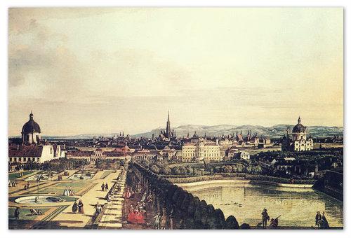 Примерно так выглядела Вена в начале XIX века. Культурно, не правда ли?