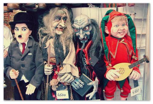 В Чехии очень популярны куклы марионетки.