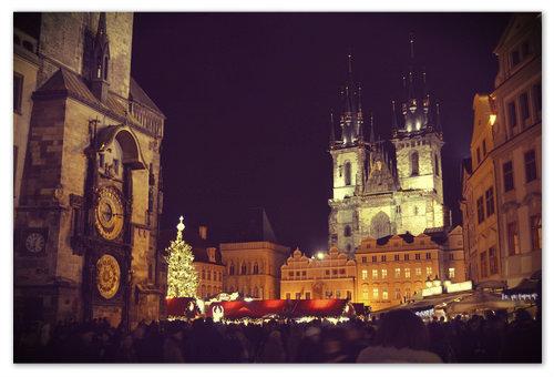 Большинство российских туристов в Чехии встречают Новый Год на Староместской площади.