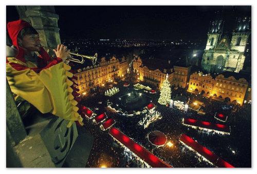Новый год 2019 на Староместской площади.