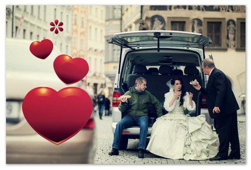 Жених и невеста в Чехии.