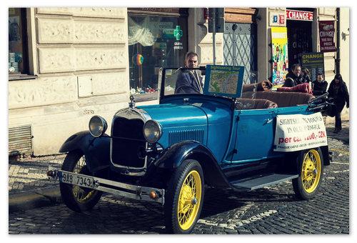 Мартовской солнышко в чешской столице.