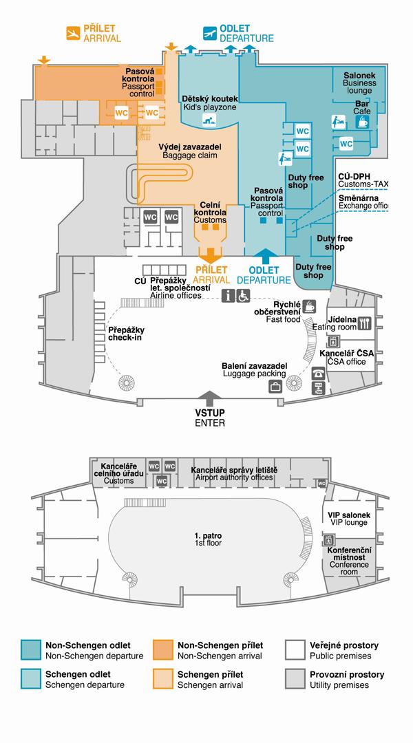 Схема аэропорта в Карловых