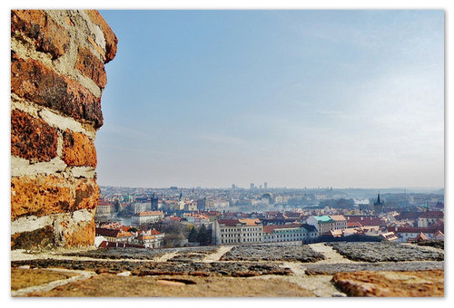 Вид на город с Пражского града.