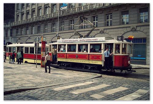 туристический трамвайчик.