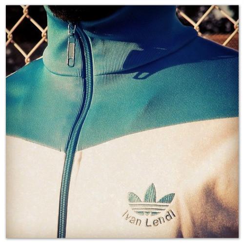 Спортивная кофта Адидас с именем Ивана Лендла.