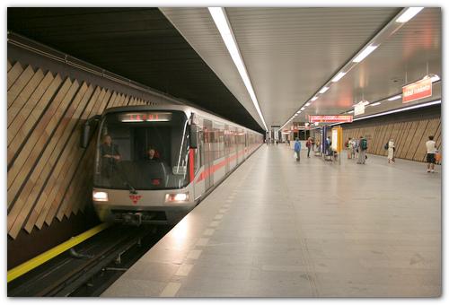 Пражское метро.