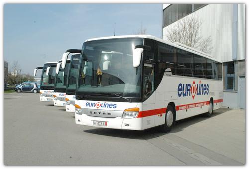 Автобусы Eurolines.