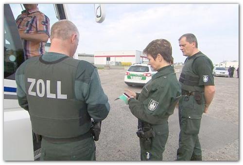Немецкие таможенники.