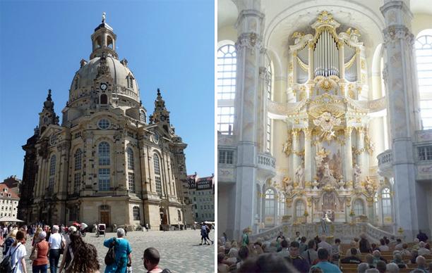 Во Frauenkirche вот-вот начнётся служба.