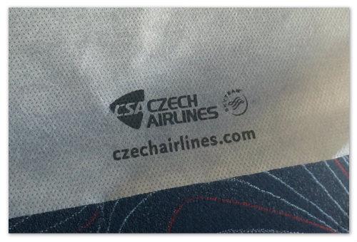 Подголовник в самолёте CSA.