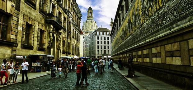Исторический центр Дрездена. Шествие князей.