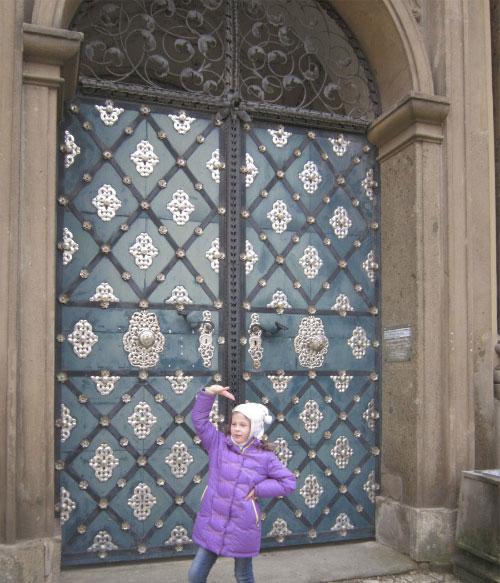 Красивые ворота.