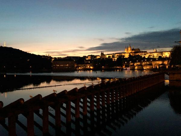 Ночная Прага.