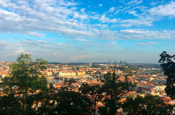 Вид на столицу Чехии.