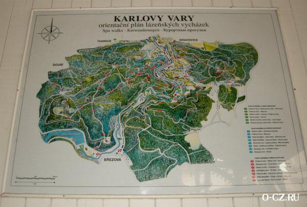 Карта Карловых Вар.