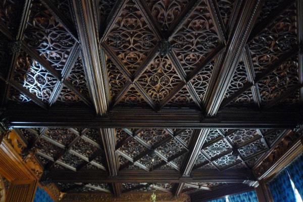 Деревянный потолок в замке Леднице.