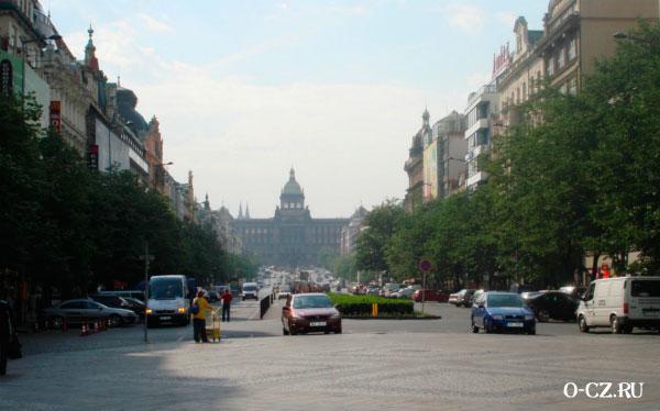 На Вацлавской площади.