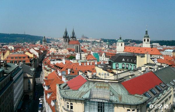 Прага со смотровой площадки.