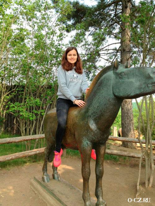 На лошади Пржевальского.