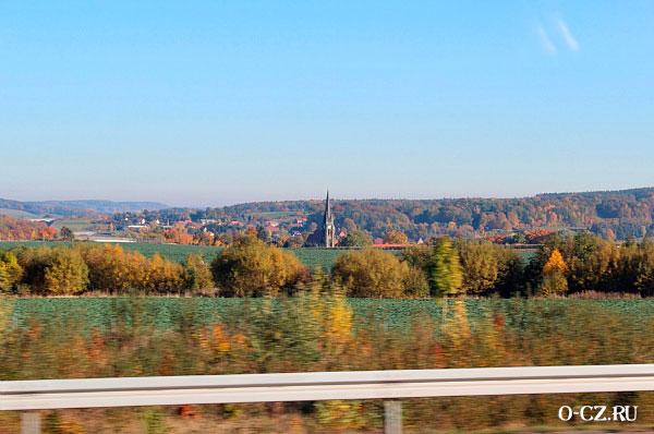 Дорога в столицу Чехии.